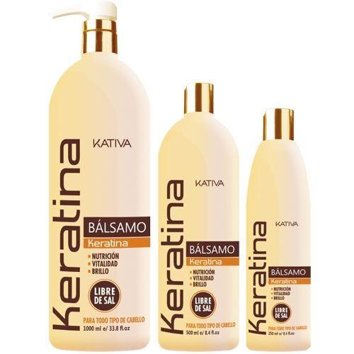 Бальзам Kativa Кератиновый бальзам-кондиционер 1000 мл capicure бальзам глубокое восстановление и яркость цвета волос 300 мл