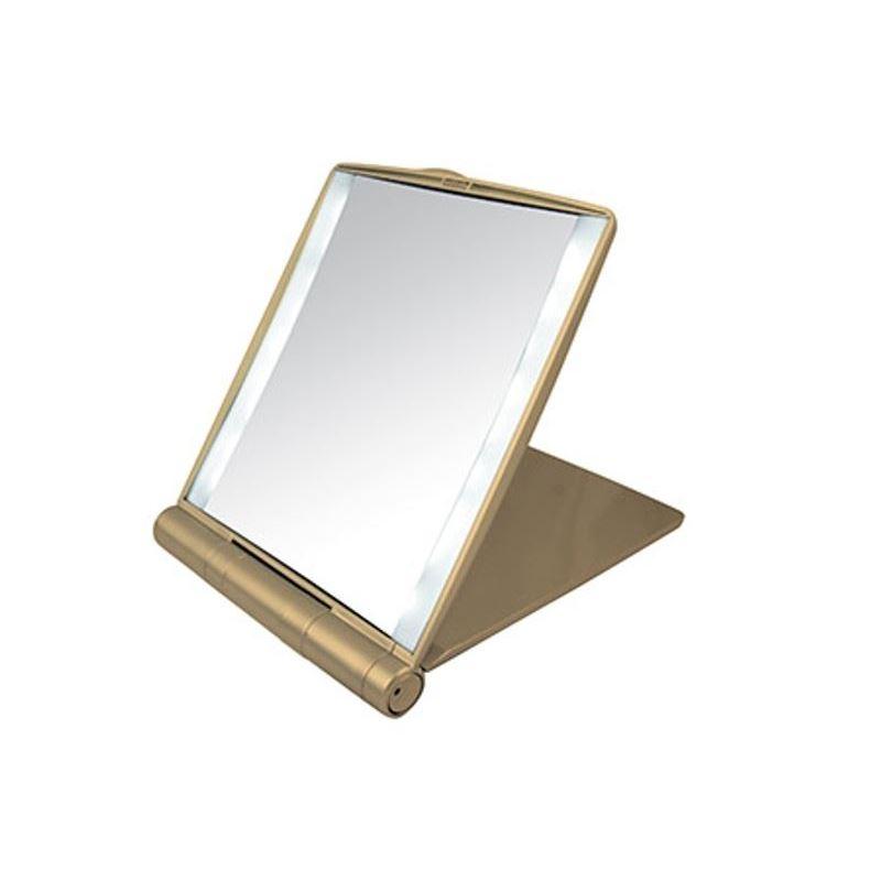 Зеркало Gezatone LM1417 Зеркало-планшет косметологическое 1х и 3х  с подсветкой   (LM1417 золото)  зеркало косметологическое с подсветкой gezatone lm110