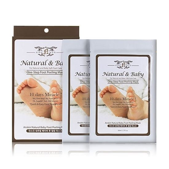 Пилинг Anskin Natural Baby Foot Peeling Mask  недорого