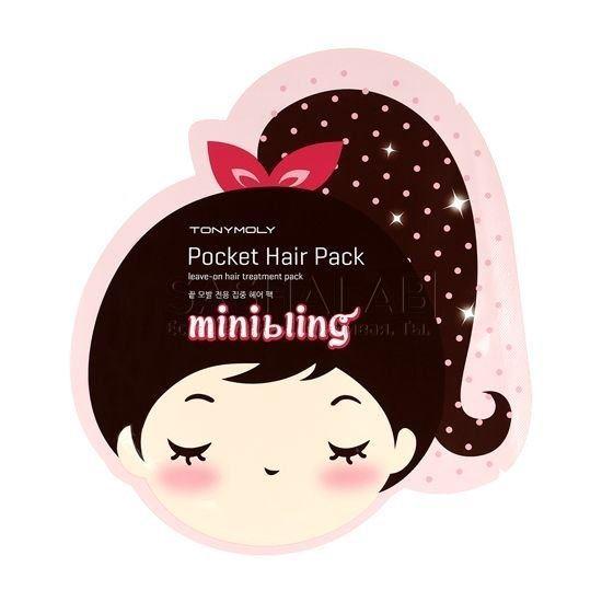 Маска Tony Moly Mini Bling Pocket Hair Pack 8 мл маска tony moly make hd argan rose treatment hair steam pack 1 шт