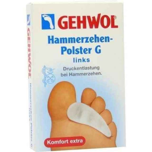 Сопутствующие товары Gehwol Hammerzehen-Polster G Links (1 шт) gehwol подушка под пальцы ног малая левая gehwol hammerzehen polster links 1 27502 1шт