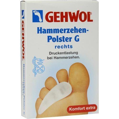 Сопутствующие товары Gehwol Hammerzehen-Polster G Rechts (1 шт) gehwol подушка под пальцы ног малая левая gehwol hammerzehen polster links 1 27502 1шт