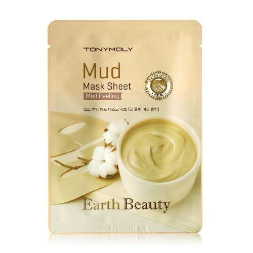 Маска Tony Moly Earth Beauty Mud Peeling Mask Sheet (15 г) тканевая маска tony moly pureness 100 shea butter mask sheet объем 21 мл