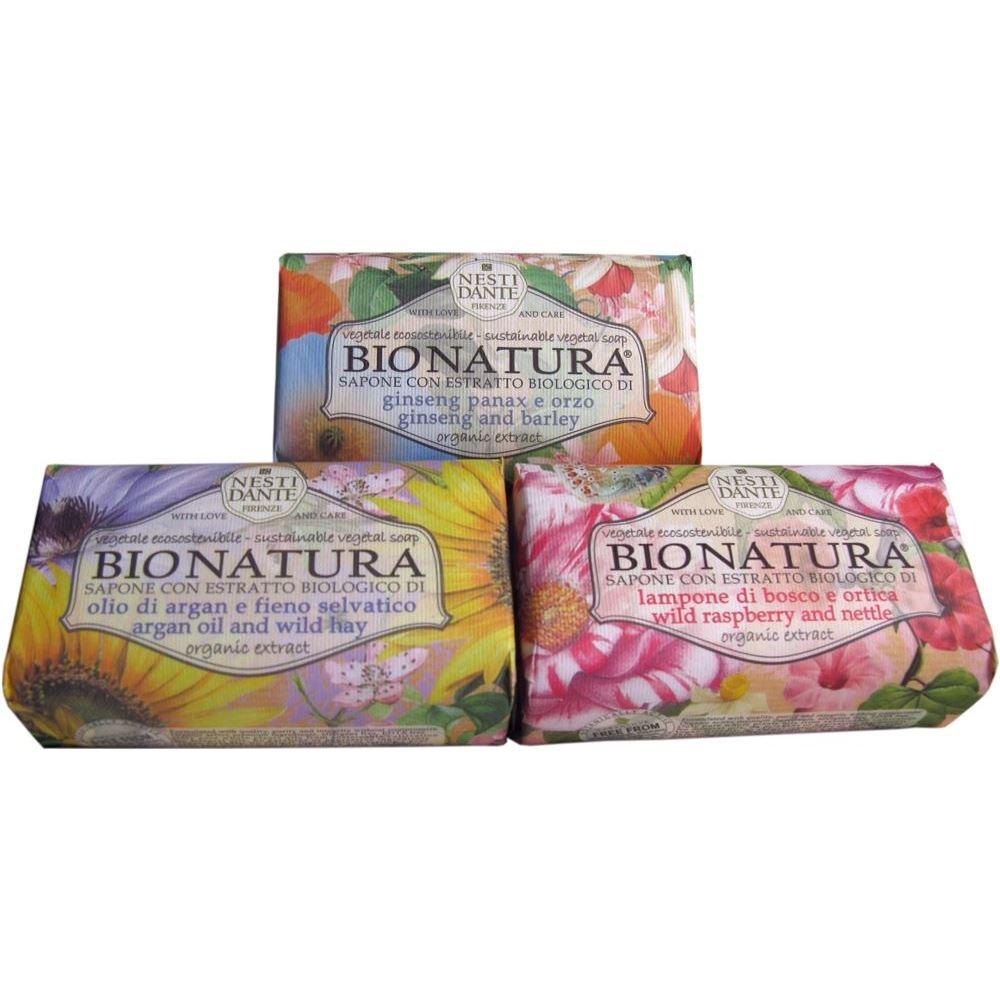 Мыло Nesti Dante Bio Nature (Женьшень и Ячмень 250 гр) nesti dante мыло bionatura масло аргании и альпийские травы 250 г