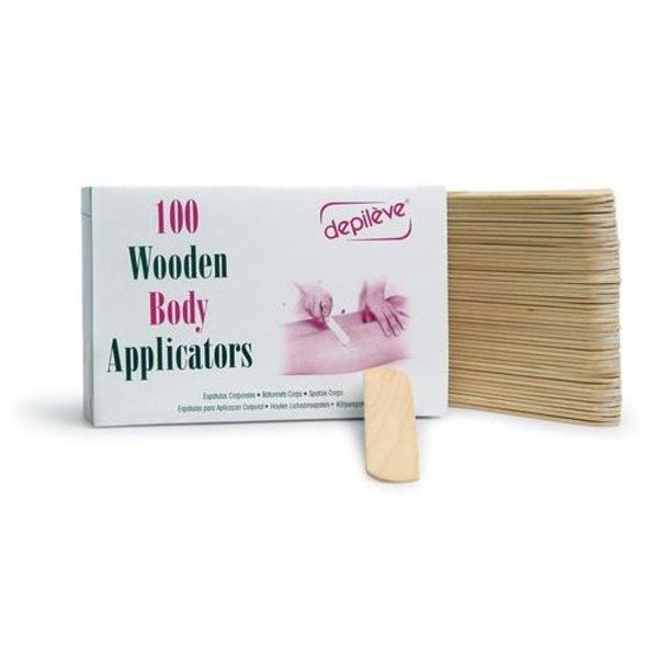 Сопутствующие товары Depileve 100 Wooden Body Applicators (100 шт)