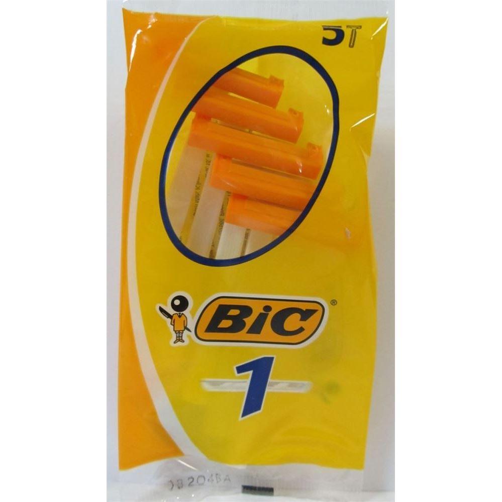 Бритва Gillette BIC 1  Normal Станки одноразовые (карта 36 шт. желтый)