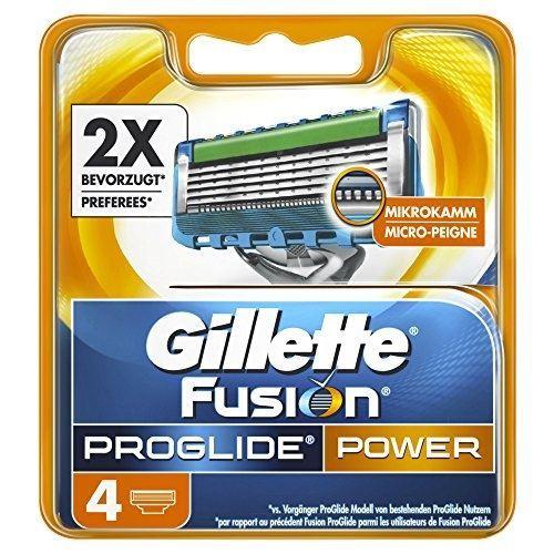 Кассеты Gillette Fusion ProGlide Power - 4 Сменных Кассеты (4 шт. (rus)) gillette сменные кассеты для бритья fusion proglide 2 шт