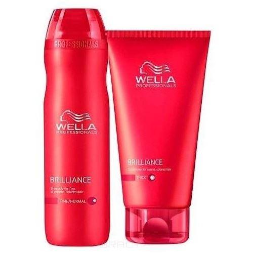 Набор: Бальзам Wella Professionals Набор Brilliance Шампунь + Бальзам wella крем маска brilliance line для окрашенных жестких волос 150 мл