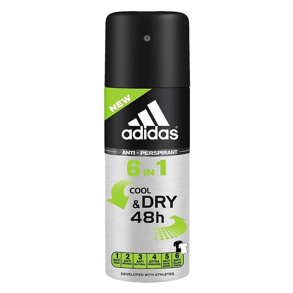 Дезодорант Adidas Anti-Perspirant Spray Male 6 In 1 150 мл free shipping 2pcs 1 9 nv version 1 10 scale rc crawler wheels metal beadlock wheel hubs diameter 62mm