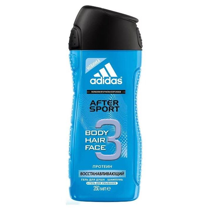 Набор Adidas Shower Gel Male After Sport (Набор: антиперспирант-спрей Fresh, 150 мл + гель для душа, 250 мл + шампунь Intense Clean, 200 мл) туалетная вода clean shower fresh men объем 30 мл