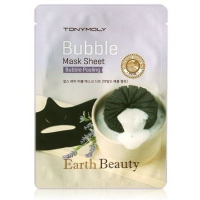 Маска Tony Moly Earth Beauty Bubble Mask Sheet 18 мл тканевая маска tony moly pureness 100 shea butter mask sheet объем 21 мл