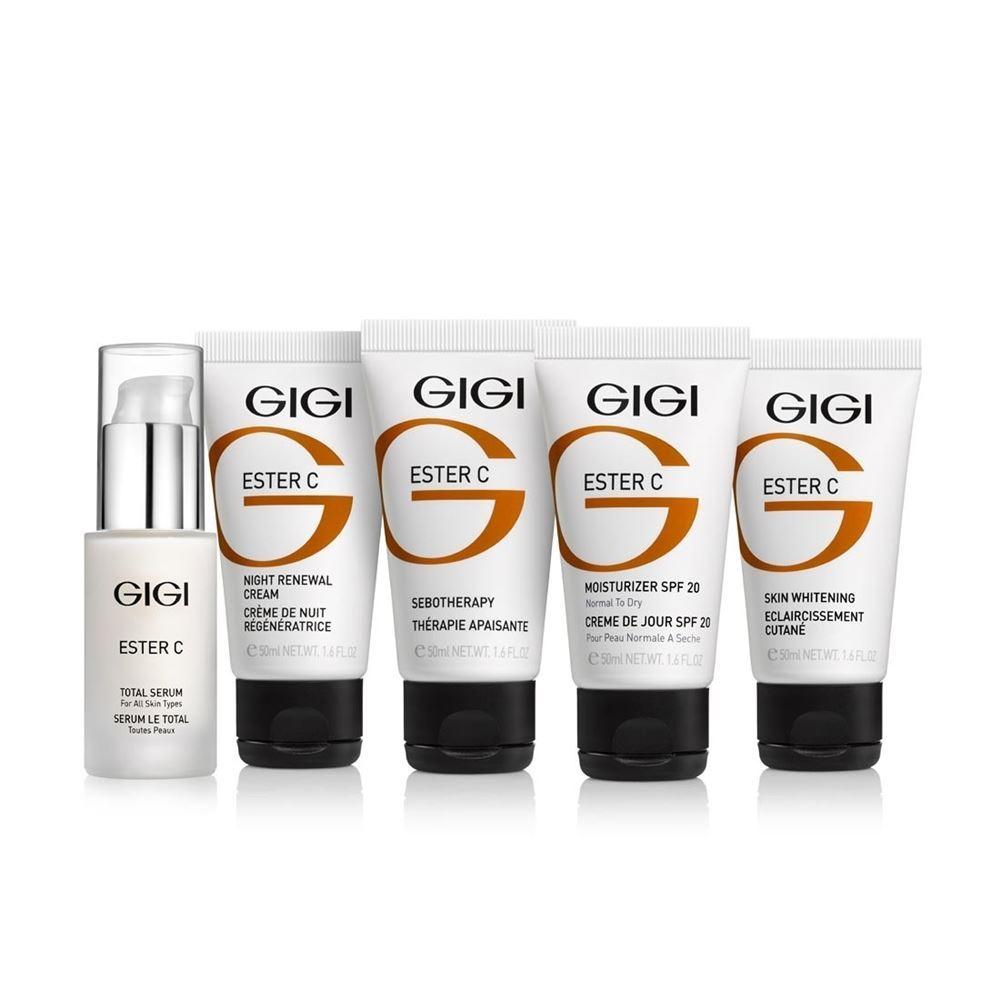 Набор GiGi Ester C Set (Набор: крем 75 мл+крем 50 мл+крем 50 мл+крем 50 мл+ сыворотка 30 мл) крем gigi comfort day cream spf 15 50 мл
