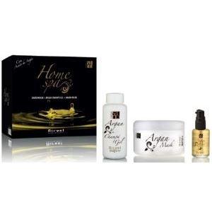 Набор Nirvel Professional Argan Home SPA Set (Набор: шампунь 250 мл+маска 200 мл+флюид 30 мл) sea of spa маска питательная восстанавливающая для сухих окраш волос с маслом арганы и ши 500 мл