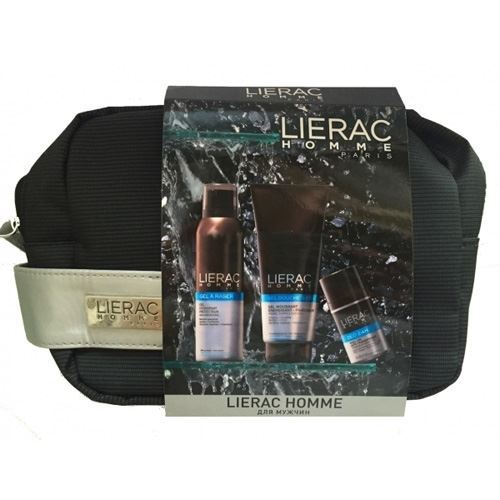 Lierac Lierac Homme OM Set (Набор: гель д/душа, 200 мл+гель д/бритья, 150 мл+дезодорант, 50 мл) lierac дезодорант 24 часа защиты для мужчин lierac homme deo 24h l1270 50 мл