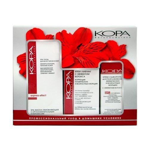 Набор KORA Набор Интенсивное увлажнение и защита  (Набор: Крем-маска, 100 мл+крем-сыворотка, 30 мл+крем-лифтинг, 50 мл) крем kora крем антиоксидант форте 50 мл