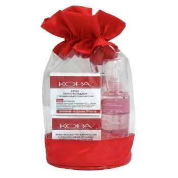 Набор KORA Набор Универсальный уход для любого типа кожи (Набор: гоммаж, 100 мл+крем, 50 мл+крем-гель, 30 мл) крем kora крем антицеллюлит форте 150 мл