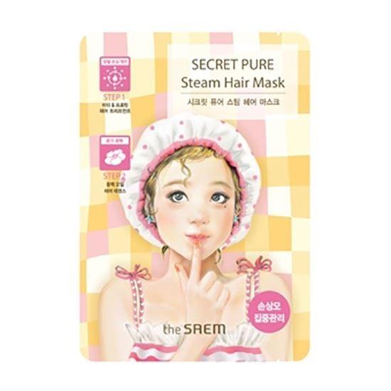 Маска The Saem Secret Pure Steam Hair Mask (15 г + 5 г) the saem тканевая маска с экстрактом картофеля 21 мл mask