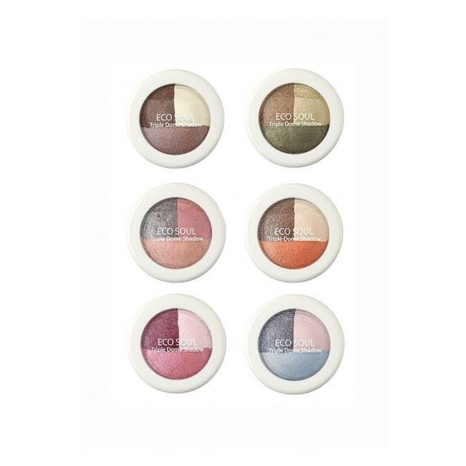 Тени для век The Saem Triple Dome Shadow (CR01) missha triple shadow 06 цвет 06 marsala red