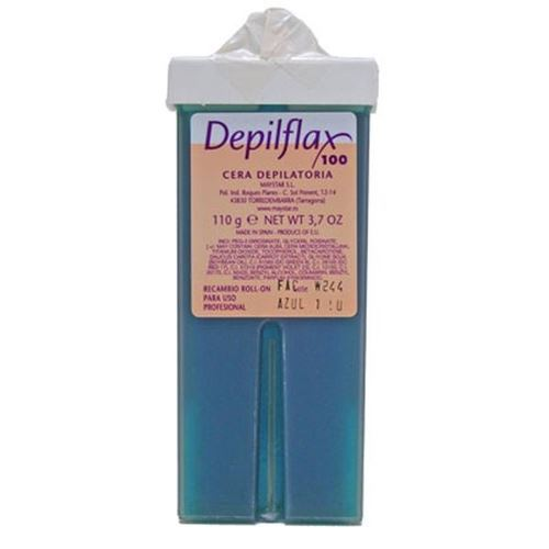 Воск Depilflax Wax Roll-On Cartridge Blue Azulen (110 г) воск depilflax wax roll on cartridge rosa 110 г