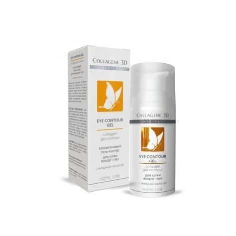 Гель Medical Collagene 3D Collagen Gel-Contour Eye Control с янтарной кислотой пилинг medical collagene 3d гель пилинг для лица энзимный anti acne