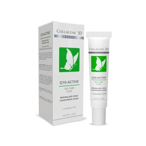 Флюид Medical Collagene 3D Silk Care Fluid Q10-Active пилинг medical collagene 3d гель пилинг для лица энзимный anti acne