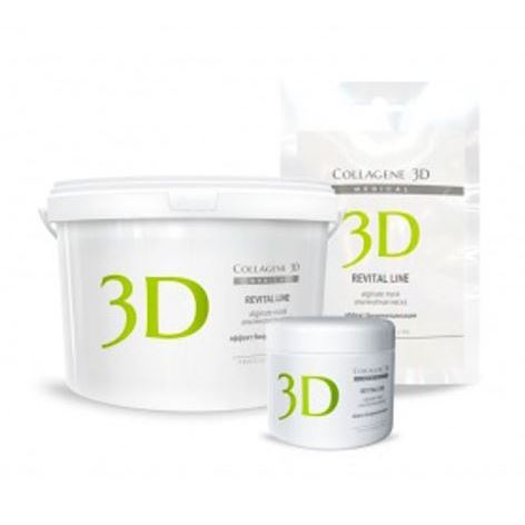 Маска Medical Collagene 3D Alginate Mask Revital Line  (30 г) пилинг medical collagene 3d гель пилинг для лица энзимный anti acne