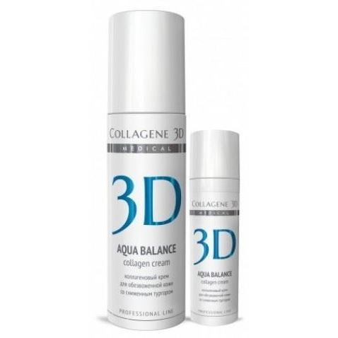 Крем Medical Collagene 3D Aqua Balance Collagen Cream 30 мл medical collagene 3d гель проф aqua balance 130 мл
