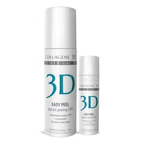 Гель Medical Collagene 3D Easy Peel Glicolic Peeling 10% medical collagene 3d энзимный пилинг c коллагеназой medical collagene 3d natural peel enzyme peeling 26005 150 мл