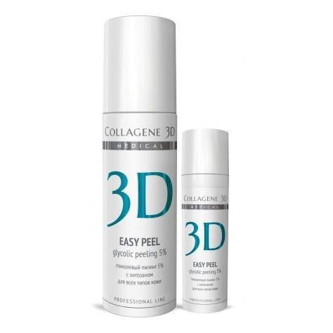 Гель Medical Collagene 3D Easy Peel Glicolic Peeling 5% medical collagene 3d энзимный пилинг c коллагеназой medical collagene 3d natural peel enzyme peeling 26005 150 мл