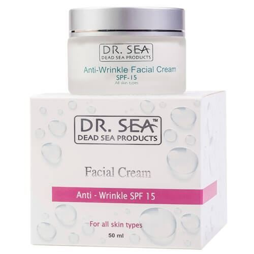 Крем Dr. Sea Anti-Wrinkle Facial Cream SPF-15 50 мл