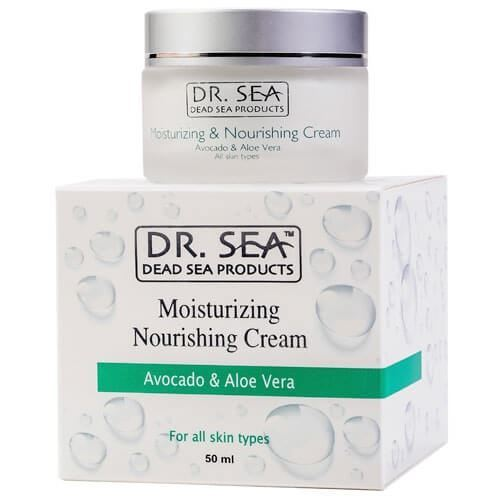 Крем Dr. Sea Moisturizing & Nourishing Cream Avocado & Aloe Vera sea of spa крем для ног против трещин с маслом авокадо и алое вера 100 мл