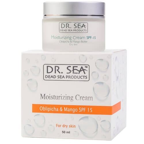 Крем Dr. Sea Moisturizing Cream SPF 15 Obliphica & Mango 50 мл