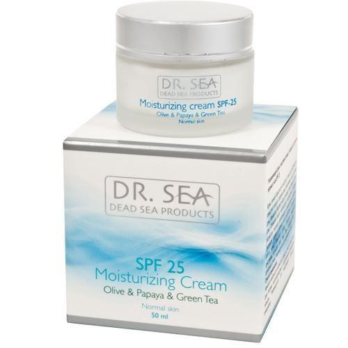 Крем Dr. Sea Moisturizing Cream Olive & Papaya & Green Tea SPF 25 цена 2017