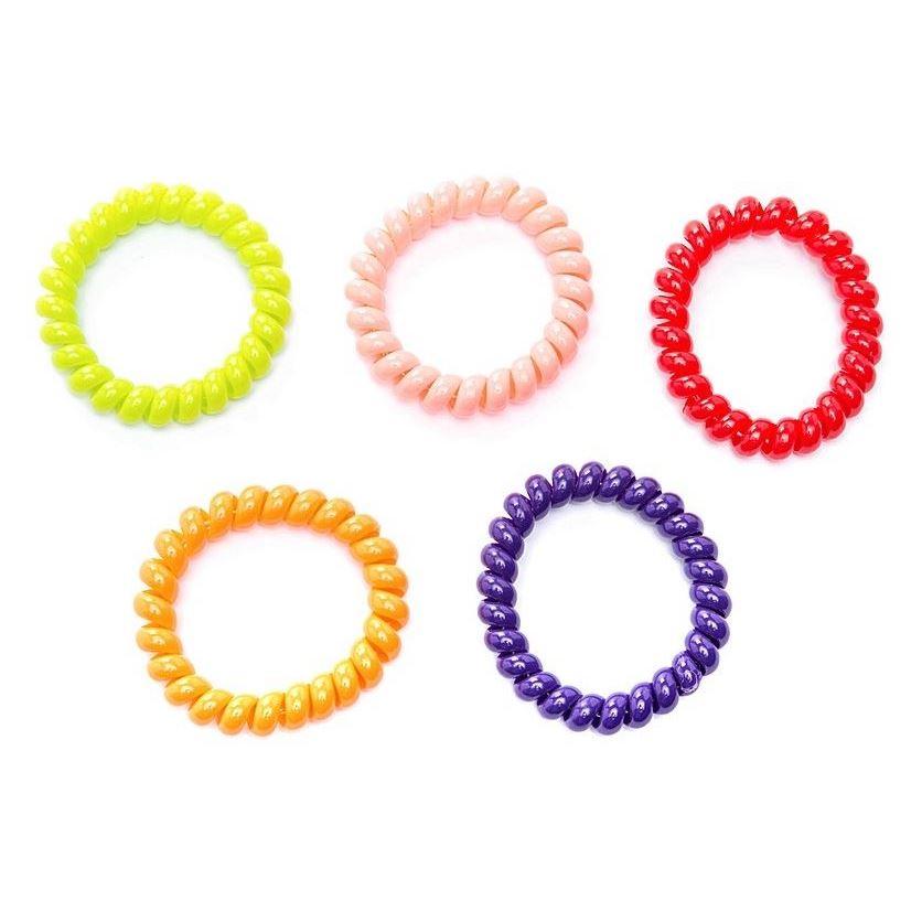 Limoni Резинка-пружинка для волос (Прозрачный) резинка спиралька для волос
