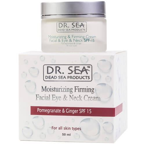 Крем Dr. Sea Moisturizing Firming Facial Eye & Neck Cream Pomegranate & Ginger SPF 15 50 мл цена 2017