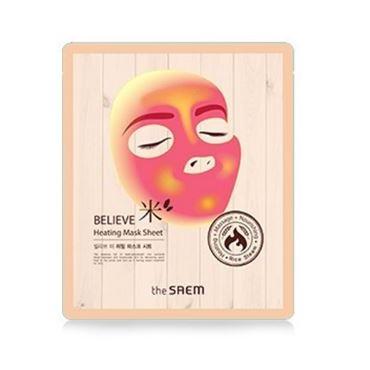 Маска The Saem Believe Heating Mask Sheet (17 г) маска тканевая с экстрактом бамбука natural bamboo mask sheet the saem