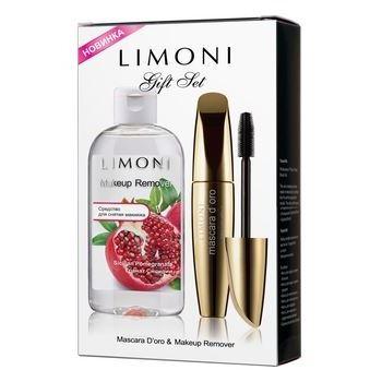 Набор: Наборы Limoni Набор Gift Set - «Mascara D'oro», «Make Up Remover Гранат Сицилии» (Набор) тушь для ресниц limoni mascara nero 01