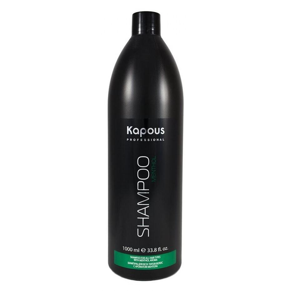 Шампунь Kapous Professional Шампунь для всех типов волос с ароматом ментола