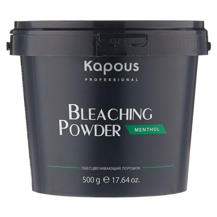 Краска для волос Kapous Professional Bleaching Powder Ментол (500 г) краска для волос kapous professional bleaching cream for hair with argan oil 150 г