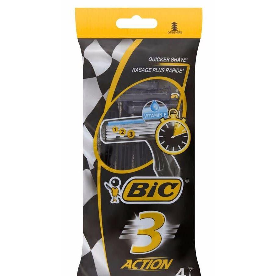 Бритва Gillette BIC 3 Action Станки одноразовые (4 шт) вереина л металлообрабатывающие станки учебник