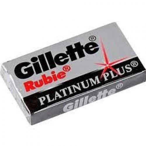 где купить  Сопутствующие товары Gillette Rubie Platinum Plus лезвия классические (20*5 шт)  по лучшей цене