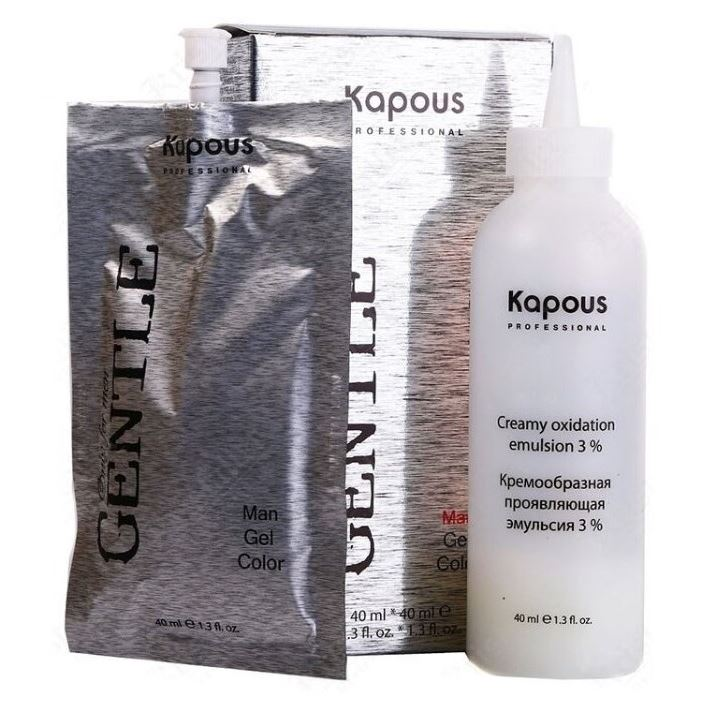 Краска для волос Kapous Professional Man Gel Color (№6 светло-коричневая) гель kapous professional after wax refreshing gel with menthol and camphor