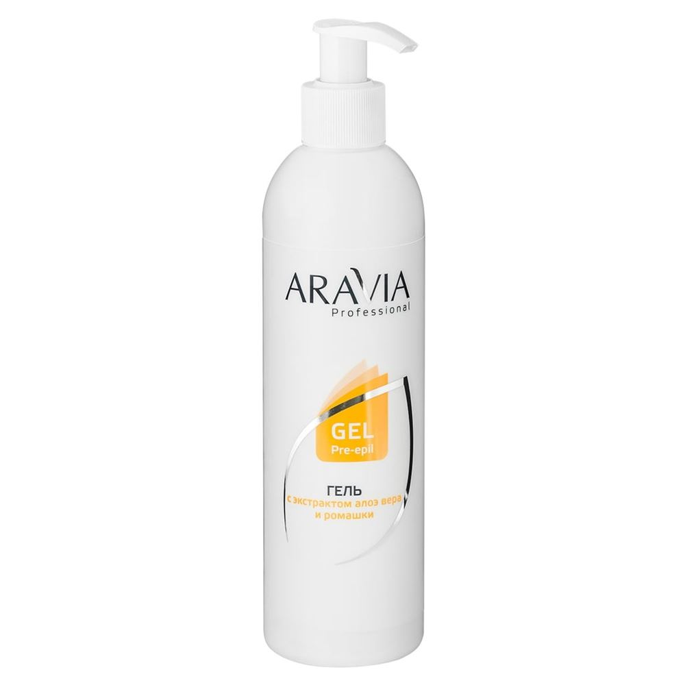 Гель Aravia Professional Gel Pre-Epil Aloe&Сhamomile 300 мл гель aravia professional cuticle remover 100 мл
