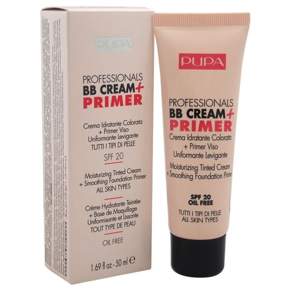 Тональный крем Pupa Professionals BB Cream + Primer All Skin Types SPF 20 (001) крем gigi advanced peeling cream for all skin types