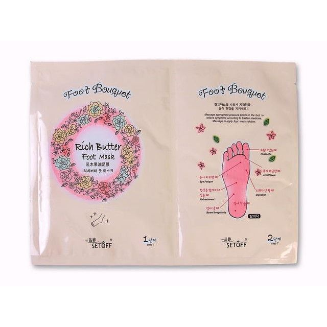 Маска Etude House Hand Bouguet Rich butter Foot Mask (2 * 18 гр) крем etude house hand bouquet rich butter hand cream