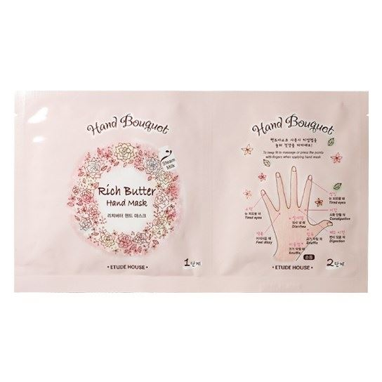 Маска Etude House Hand Bouguet Rich butter Hand Mask (2 * 16 гр) маска etude house moistfull collagen mask sheet