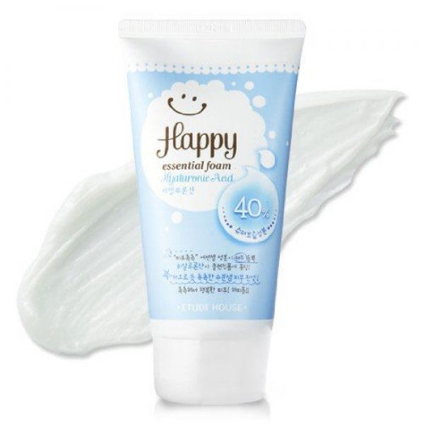 Пенка Etude House Happy Essential Cleansing Foam Hyaluronic Acid пенка the face shop green tea phyto powder cleansing foam объем 170 мл
