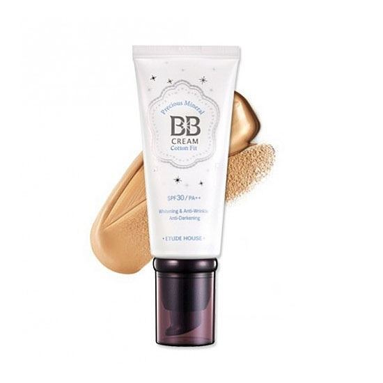 Тональный крем Etude House Precious Mineral BB Cream Cotton Fit (W24 Honey Beige медовый беж) крем etude house hand bouquet rich butter hand cream