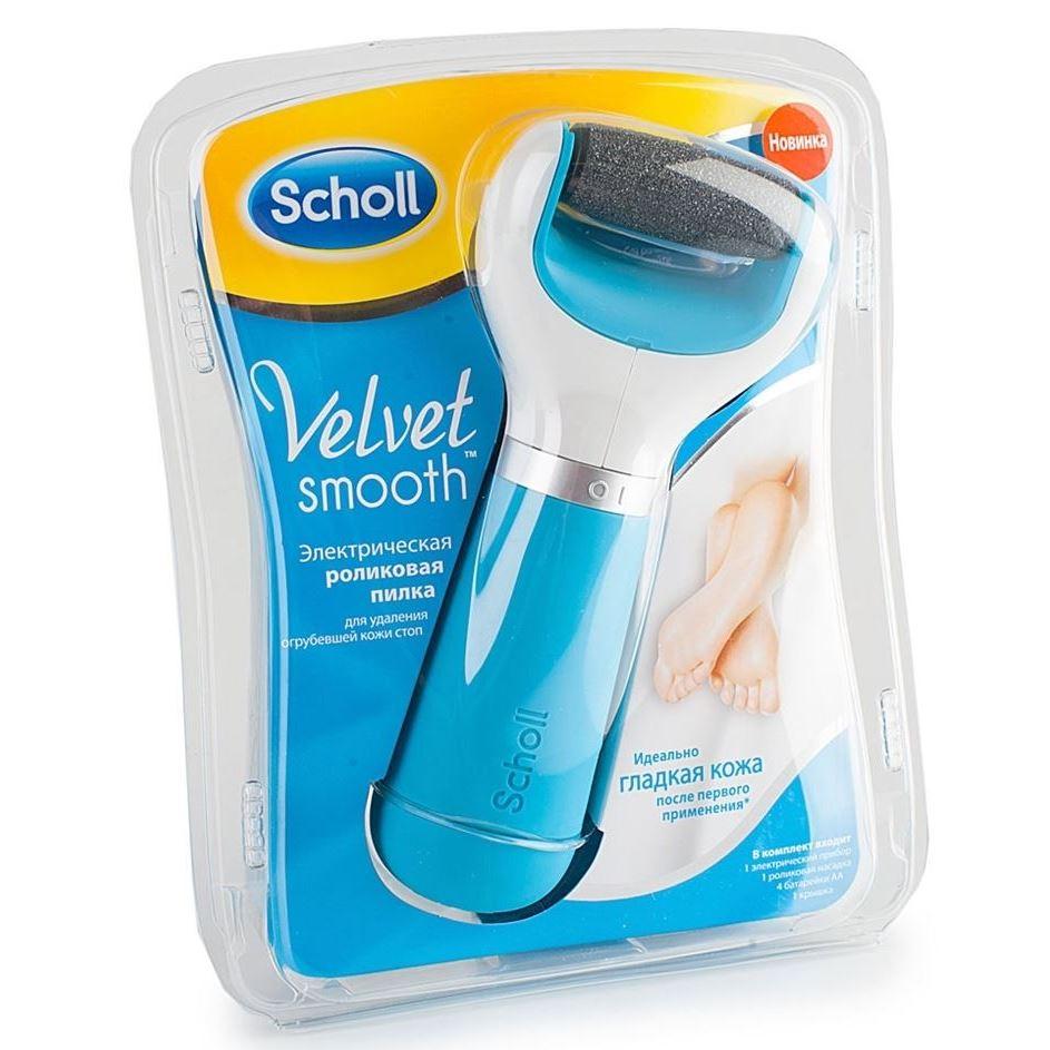 Пилка Scholl Velvet Smooth (Голубая) пилка scholl роликовая электрическая для ногтей