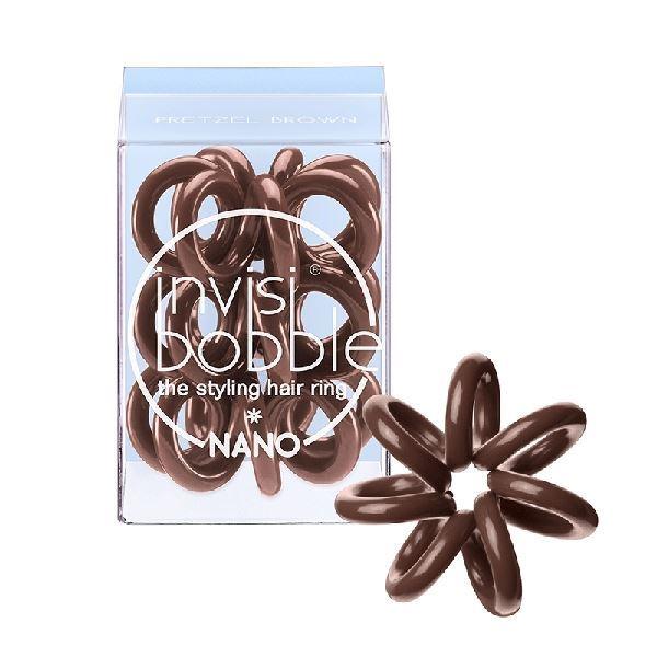 Сопутствующие товары Invisibobble Nano Pretzel Brown (набор: 3 шт) резинка браслет для волос invisibobble power pretzel brown 3 шт